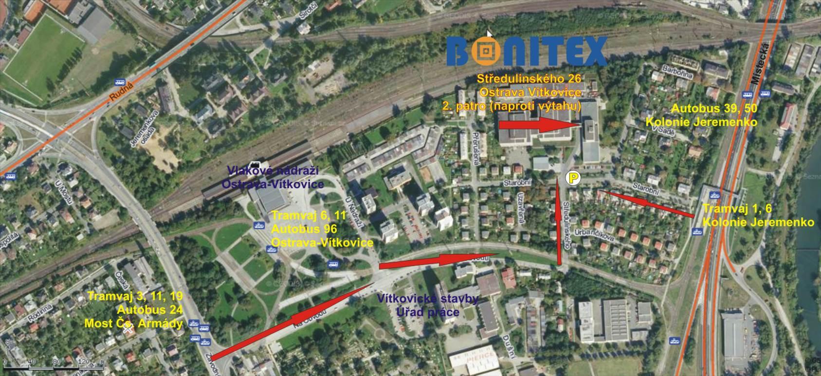 BONITEX-sídlo firmy Ostrava-Vítkovice